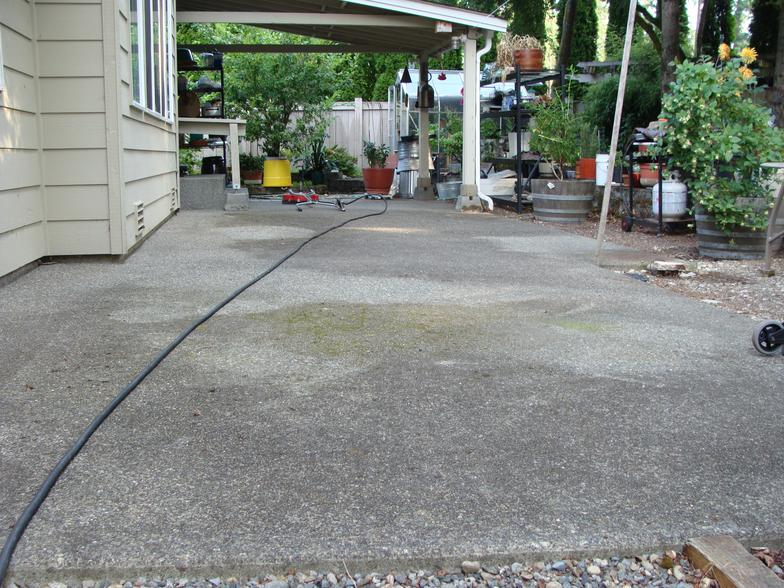 D m window cleaning tacoma wa 98404 for Cleaning concrete patio